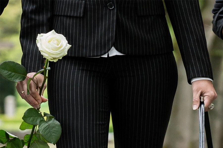 ubiór damski na pogrzeb