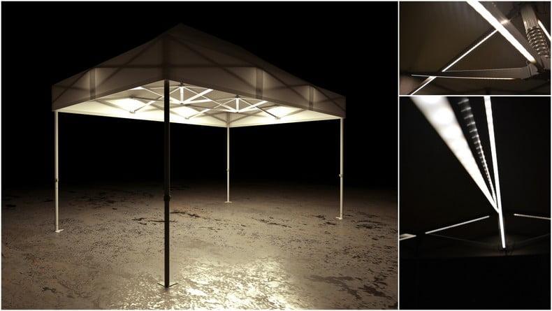 namioty pogrzebowe z oświetleniem
