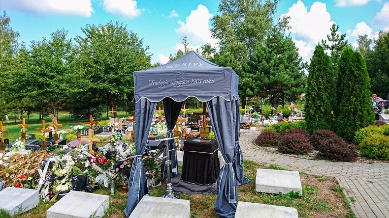 namioty pogrzebowy urnowy